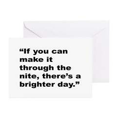 Rap Culture Brighter Day Quote Greeting Cards (Pk