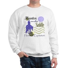 Distressed hunter in lavendar Sweatshirt