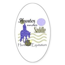 Distressed hunter in lavendar Oval Decal