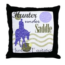 Distressed hunter in lavendar Throw Pillow