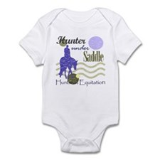 Distressed hunter in lavendar Onesie