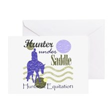 Distressed hunter in lavendar Greeting Card