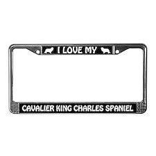 I Love My Cavalier King Charles... License Frame