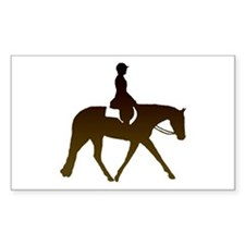 Hunter horse in brown Rectangle Decal