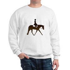 Hunter horse in brown Sweatshirt