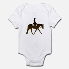 Hunter horse in brown Infant Bodysuit