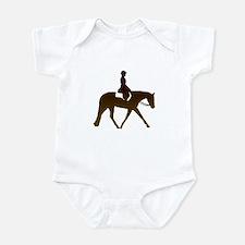 Hunter horse in brown Infant Bodysuit