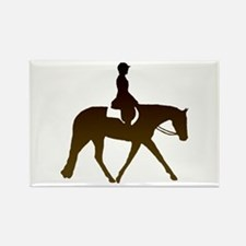 Hunter horse in brown Rectangle Magnet