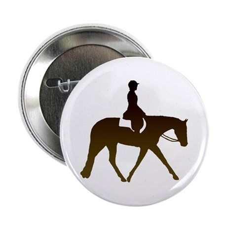 "Hunter horse in brown 2.25"" Button (10 pack)"