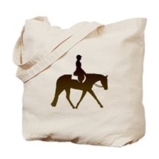 Hunter horse in brown Tote Bag