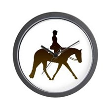 Hunter horse in brown Wall Clock