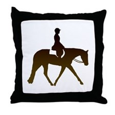 Hunter horse in brown Throw Pillow
