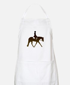 Hunter horse in brown BBQ Apron