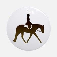 Hunter horse in brown Ornament (Round)