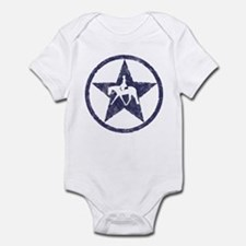 Texas star english horse Infant Bodysuit