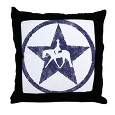 Texas star english horse Throw Pillow