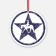 Texas star english horse Ornament (Round)