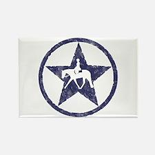Texas star english horse Rectangle Magnet