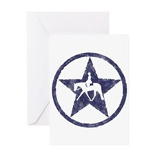 Texas star english horse Greeting Card