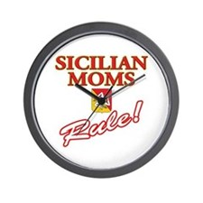 Sicilian Moms Rule Wall Clock