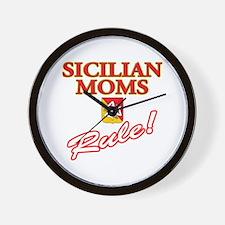 Sicilian Moms Rule Wall Clock