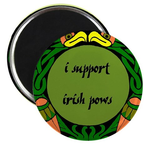 "SUPPORT IRISH POWs 2.25"" Magnet (100 pack)"