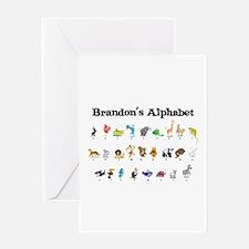 Brandon's Animal Alphabet Greeting Card