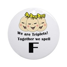 Triplets_Spell F Ornament (Round)