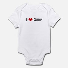 I love Pleasure Horses Infant Bodysuit