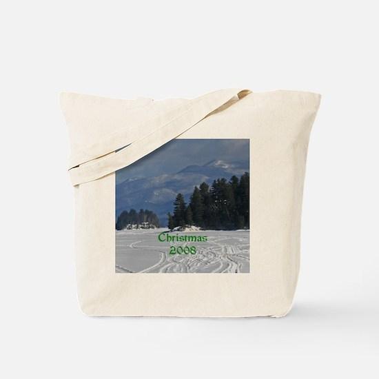 Long Lake Adirondacks Christmas 08 Tote Bag
