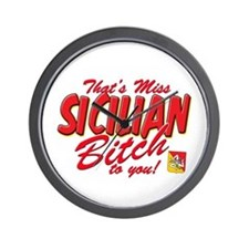 Sicilian Bitch Wall Clock