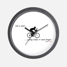 Life is short cycling Wall Clock