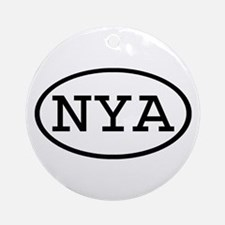 NYA Oval Ornament (Round)