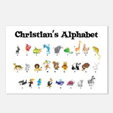 Christian's Animal Alphabet Postcards (Package of