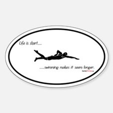 Life is Short Swimming Oval Decal