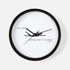Life is Short Swimming Wall Clock