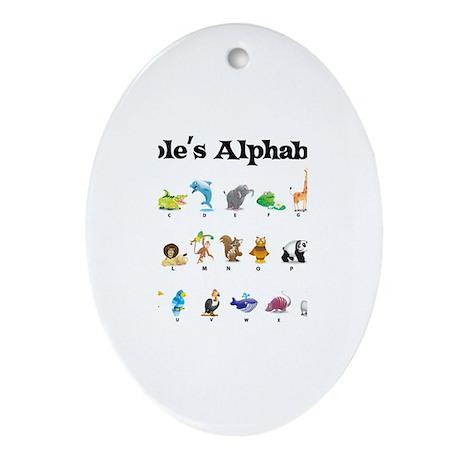 Cole's Animal Alphabet Oval Ornament