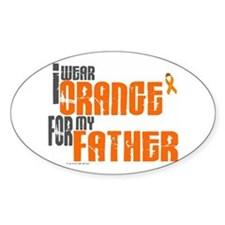 I Wear Orange For My Father 6 Oval Decal
