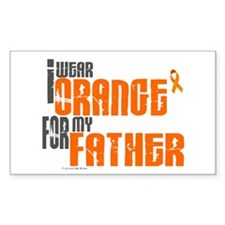 I Wear Orange For My Father 6 Sticker (Rectangular