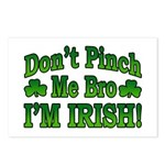 Don't Pinch Me Bro I'm Irish Postcards (Package of