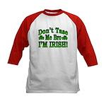 Don't Tase Me Bro I'm Irish Kids Baseball Jersey