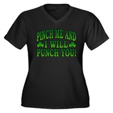 Pinch Me and I will Punch You Women's Plus Size V-