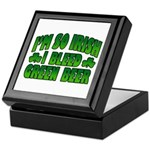 I'm So Irish I Bleed Green Beer Keepsake Box