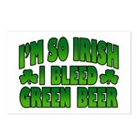 I'm So Irish I Bleed Green Beer Postcards (Package