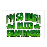 I'm So Irish I Bleed Shamrocks Postcards (Package