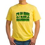 I'm So Irish I Bleed Shamrocks Yellow T-Shirt