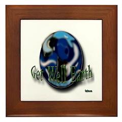 Earth Day Get Well Earth Framed Tile