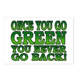 Once You go Green You Never Go Back Postcards (Pac
