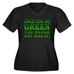 Once You go Green You Never Go Back Women's Plus S