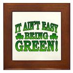 It Ain't Easy being Green Framed Tile